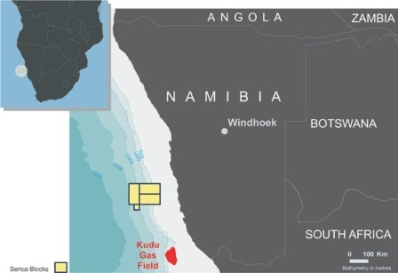 Serica's blocks offshore Namibia (Source: Serica Energy)